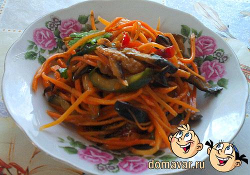 Корейские салаты из овощей